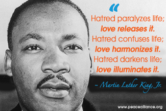 Image of: Inspirational Quotes Mlkloveilluminates325 The Peace Alliance Peace Inspiration Great Quotes The Peace Alliance