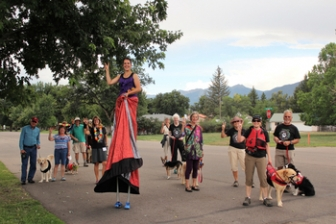 Paws for Peace Parade for Full Circle Restorative Justice, Salida, CO